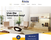 Artha real estate  website design