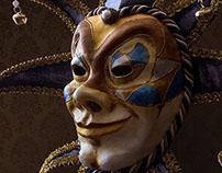 UMA Máscaras (Veneciana - Bufón)