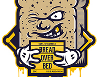 Bread Over Bed Illustrations