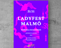 Poster for Ladyfest Malmö