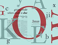 Font Study : Janson Text