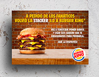 "Burger King · Tarjetón ""Stacker 5.0"""