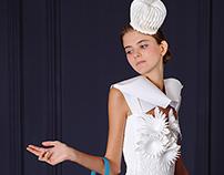 paper dress / paper couture /Papierkleid No.065