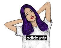 adidas Originals F/W Hero Looks Illustrations
