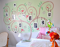Illustration Tree of life - Baby room
