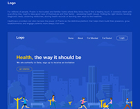 Helathcare product landing page