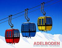 Adelboden Ski Resort Poster