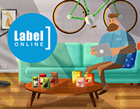 Label online - animated ads