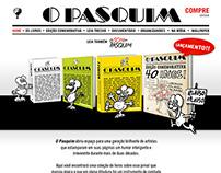 Layout para hotsite comemorativo dos livros do Pasquim