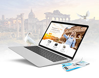 """landing page design for """"Tours of Rome"""""""