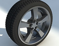 High Poly 3d Tire