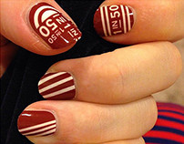Brain Aneurysm Awareness Nail Design