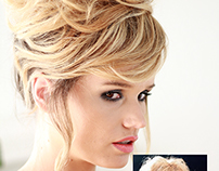 Brigitte Bardot messy updo.Hair by Eskimo.