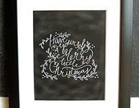 Merry Little Christmas - Hand Lettered Holiday Print