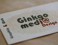 Logos with spot color and silver foil print