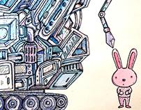La máquina de dibujar conejitos