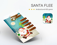 SANTA FLEE game mobile