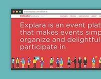 Explara B2B Website Design