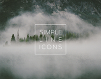 Simple line icons.