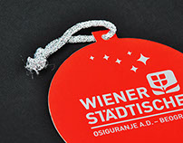 Wienere Stadtische New Year's greeting card