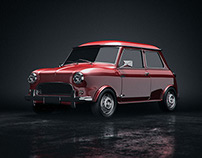 3D Artwork - Old Mini Cooper