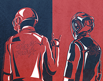 DAFT FONT | Daft Punk Tribute Illustrations