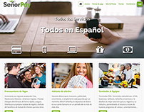 Merchant Services website in Spanish