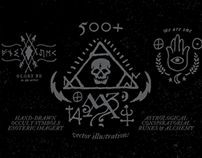 500+ Hand-Drawn Occult Symbols & Esoteric Designs