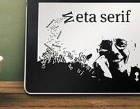 Meta serif, typographic info, ipad publication