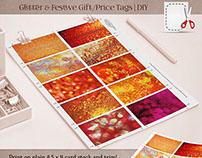 Glitter & Festive Gift / Price Tags