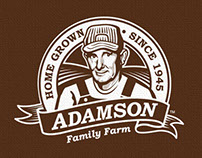 Adamson Family Farm Logo & Branding