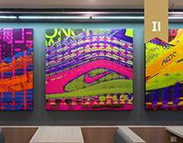 NIKE Campus Art pieces with Omacke, O.OO , Keflione.