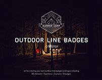 FREE Illustrator Add-On: Outdoor Line Badges Creator