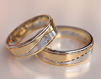 Gold Wedding Rings / 3D Visualization