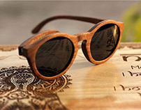 Pattern With Wooden Eyeglasses