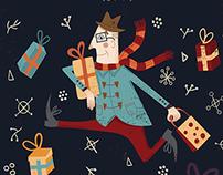 Dublin Flea Market - Christmas Poster