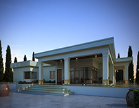 Ultra Modern Villa-Sunset Exterior View