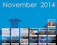 UTSA UC November Calendar