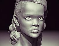 Rihanna 3D Zbrush