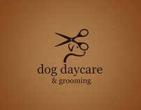 Logo for dog daycare and grooming