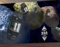 XEN Alienware Watch: Logo, Billboard and magazine ad