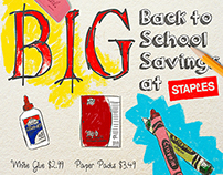Staples Back to School poster