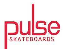 Pulse Skateboards branding and merchandise