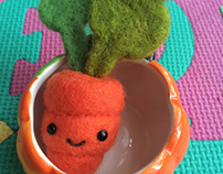 Needle Felted Carrot