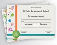Certificates: Achievement in  Sports