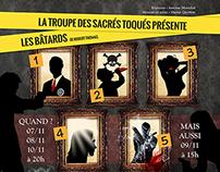 Theater poster - Les bâtards