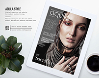 Editorial design: Aquila Style tablet magazine