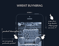 WIREFRAMES FOR PRODUCT PAGE FOR BUYNBRAG MOBILE APP