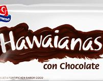Empaque Hawaianas Chocolate