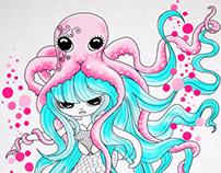 La Sirène et la pieuvre rose